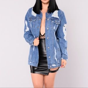 Fashion Nova Distressed Denim Jacket